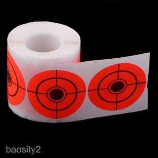 250pcs Shooting Target High Visibility Orange Adhesive Targets 2″