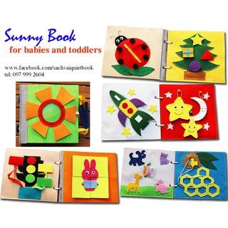"Sách vải quietbook / ""Sunny Book"" cho bé 0 – 6 tuổi"
