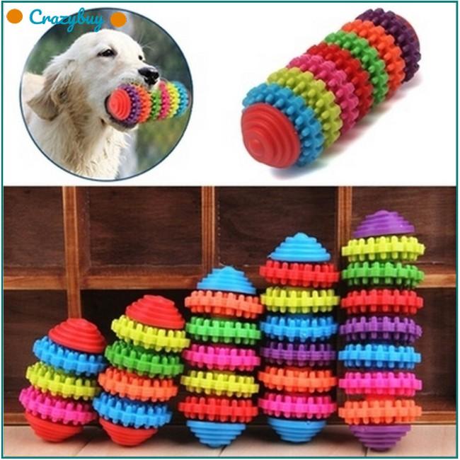 Pet Dog Puppy Cat Dental Teething Healthy Teeth Gums Chew Toy Rubber Bite