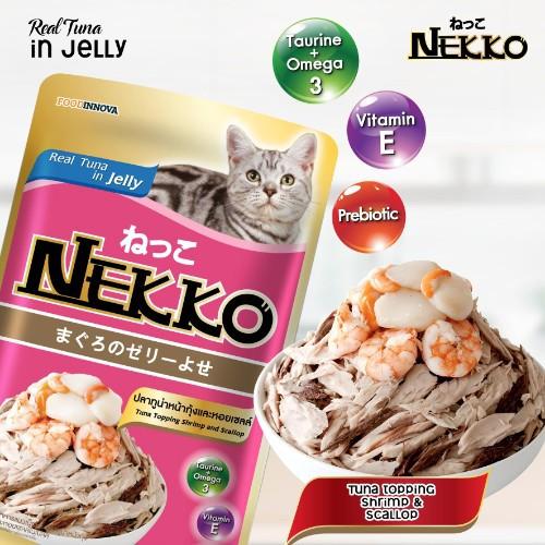 Pate Nekko cho mèo vị cá ngừ và tôm - dạng thạch ( 70g ) - 3413688 , 1029090950 , 322_1029090950 , 19000 , Pate-Nekko-cho-meo-vi-ca-ngu-va-tom-dang-thach-70g--322_1029090950 , shopee.vn , Pate Nekko cho mèo vị cá ngừ và tôm - dạng thạch ( 70g )