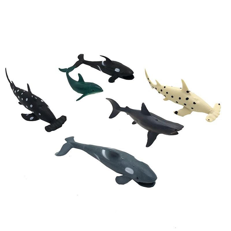 FREESHIP TỪ 99K_Bộ 6 con sinh vật biển: cá mập, cá voi Seabed World 2004B