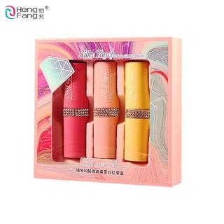 HengFang Sparkling Diamond Colorful Soft Mist Lipstick 3.5gx3 H9415 thumbnail