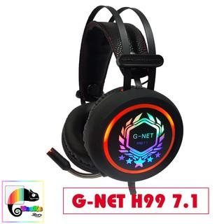 Tai nghe Gaming G-Net H99 7.1 Led Kết nối USB I Head phone GNET H99 7.1 RGB LED thumbnail