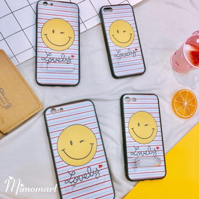 Ốp iphone mặt cười lovely