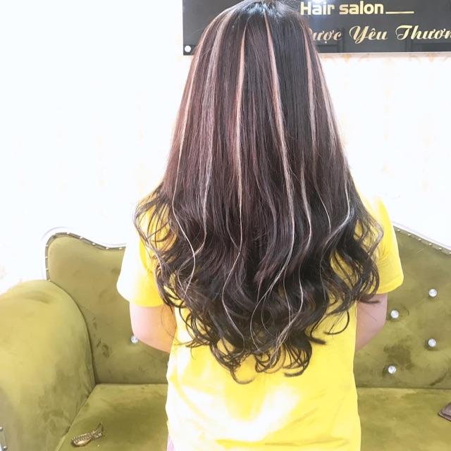 Light trắng bằng tóc thật kèm video tóc