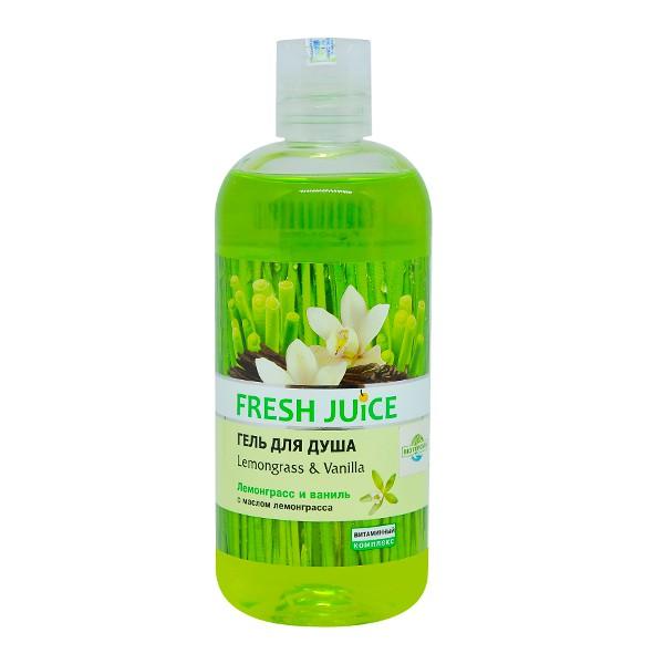 Gel tắm sả và hương vani - Shower Gel Lemongrass & Vanilla 500ml - Fresh Juice