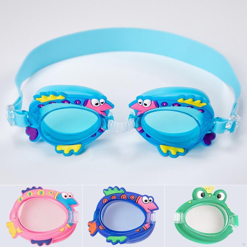 IU Children Swimming Cartoon Professional Anti Fog Kids Swimming Glasses Arena Water Swim Eyewear