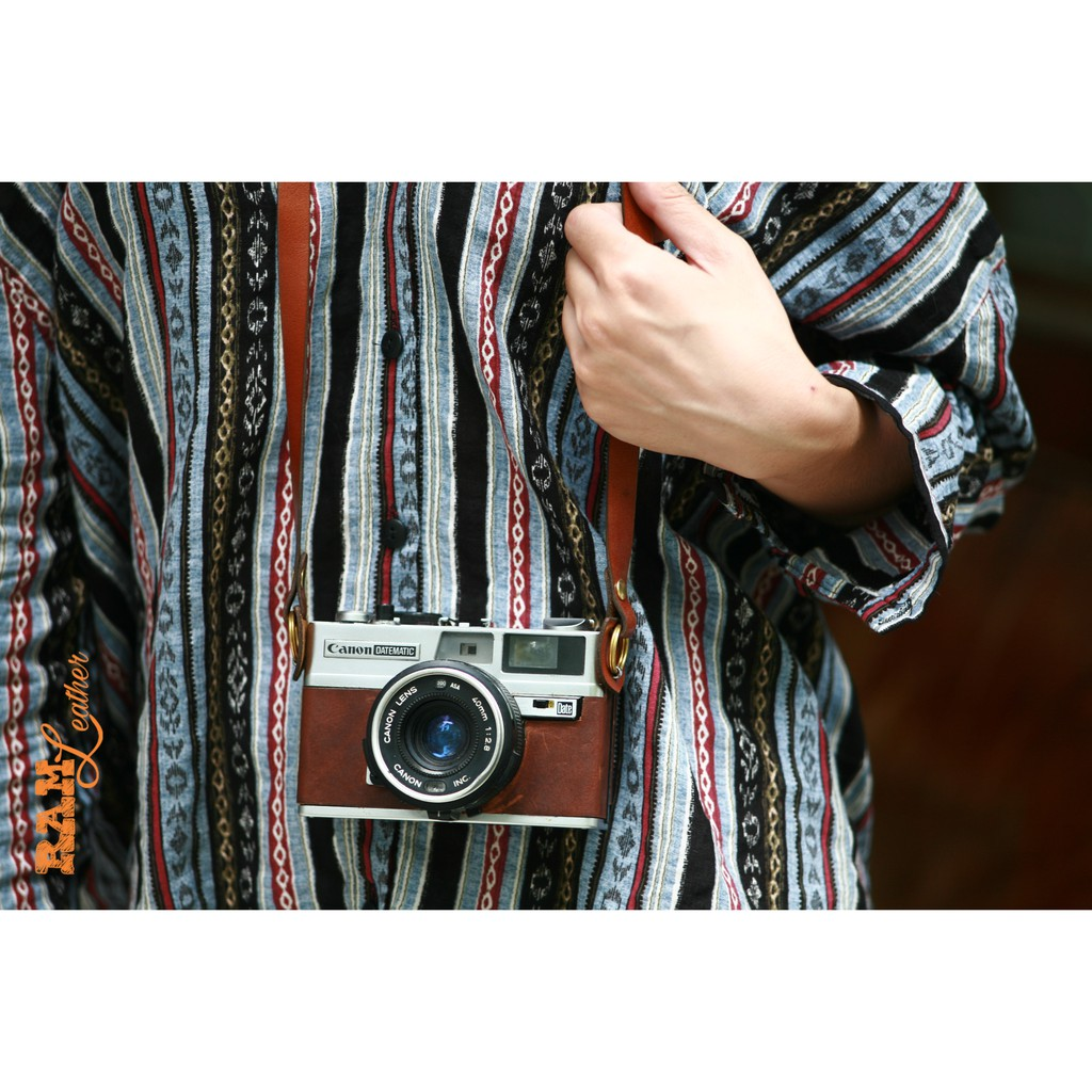 Dây máy ảnh Film và Mirroless da bò RAM A2