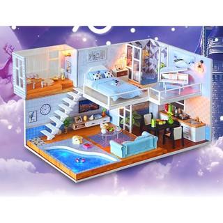 Mô hình nhà búp bê gỗ Cute Room – Biệt thự Because You