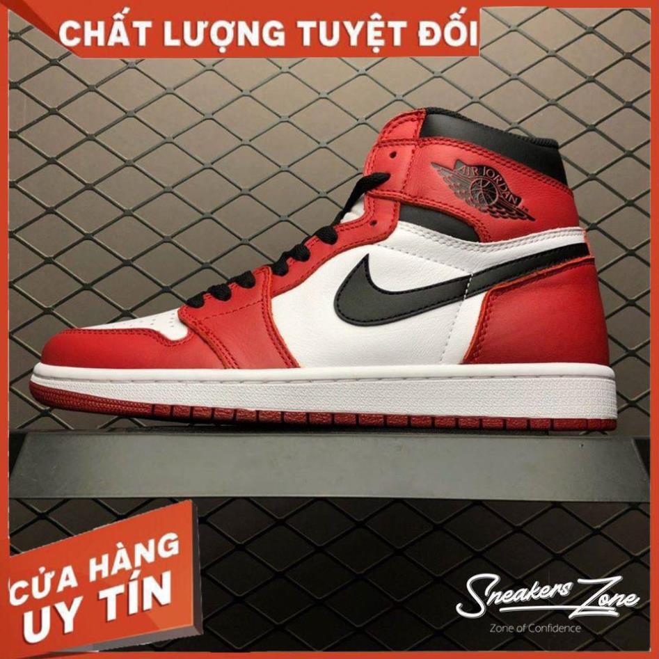 (FREESHIP+HỘP+QUÀ) Giày thể thao AIR JORDAN 1 Retro High Chicago đỏ trắng cao cổ siêu đẹp cho nam và nữ