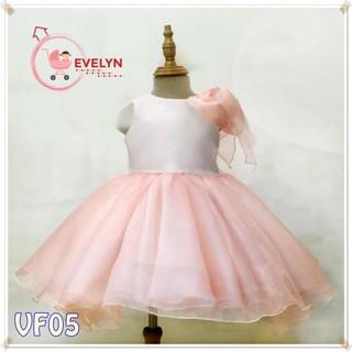 Váy Trẻ Em Công Chúa Evelyn Mã VF05 Thời Trang Cho Bé Gái 0-9 Tuổi Mặc Dự Tiệc Sinh Nhật