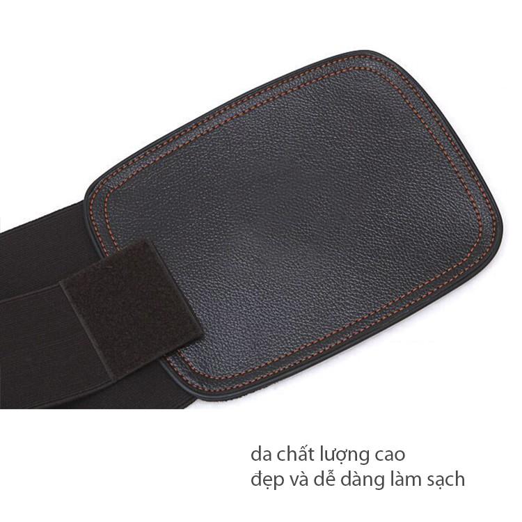 Đai lưng cột sống,Thoát vị đĩa đệm,Đau lưng ngồi nhiều,3 lớp dày bằng da cao cấp nhật bản