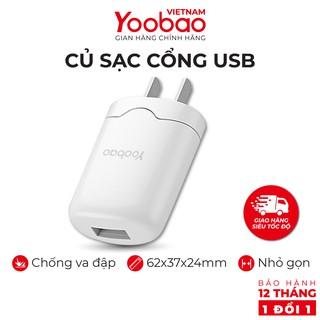 Củ sạc cổng USB Yoobao Y-720 - Chân chuẩn EU - Hãng phân phối chính thức Bảo hành 12 tháng 1 đổi 1