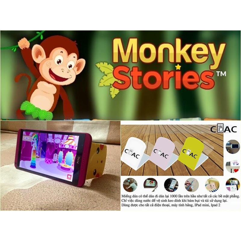 Monkey Stories – Học tiếng Anh bằng truyện tranh cho bé từ 2 -15 tuổi (Tặng 1 miếng dán điện thoại Hàn Quốc) Giá chỉ 469.000₫