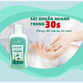 Nước rửa tay khô NAHAND dạng gel 100ml ( có kiểm định từ sở y tế)