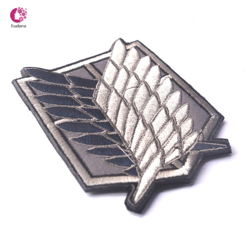 Attack on Titan The Survey Corps Symbol Patch Anime Cosplay Patch Embroidery Arm Badge