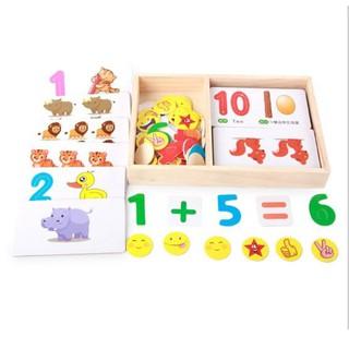 Đồ chơi bộ học toán vui vẻ cho bé – Chất liệu gỗ – Phát triển khả năng tư duy và sáng tạo