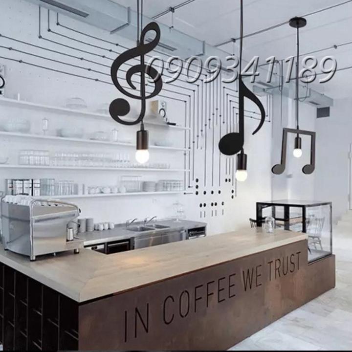 ĐÈN THẢ - ĐÈN THẢ HÌNH NỐT NHẠC - ĐÈN THẢ QUÁN CAFE