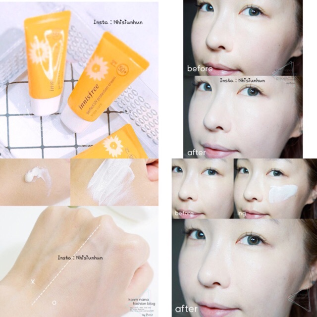 Kem Chống Nắng Innisfree Perfect UV Protection Cream Triple Care SPF50+/PA+++