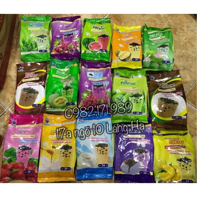Bột trà sữa các vị của Thái Lan