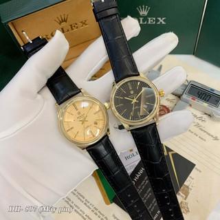 [Tặng Hộp Hãng] Đồng hồ nam Rolex mặt tròn classic dây da cao cấp bảo hành 12 tháng DH507