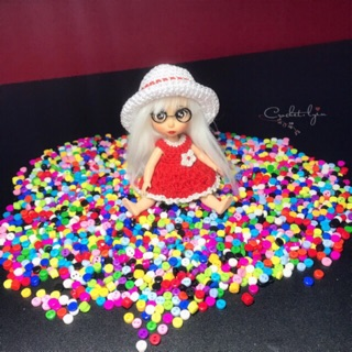 – Nút mini may phụ kiện bjd, doll,.. 4mm tròn