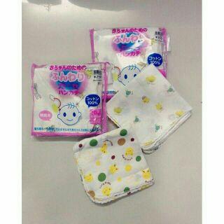 Sét 10c khăn xô sữa in hình cho bé