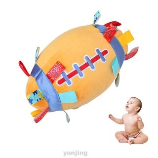 Soft Stuffed Early Education Kids Jingle Bell Grab Force Training Hand Catching Outdoor Sports Baby Plush Rugby