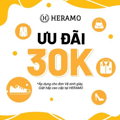 HCM [E-voucher] Giảm 30K Vệ sinh giày, Giặt sấy, Giặt hấp cao cấp tại HERAMO