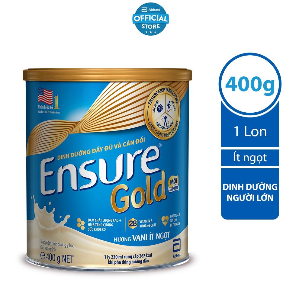 Sữa bột Ensure Gold Abbott ít ngọt (HMB) 400g