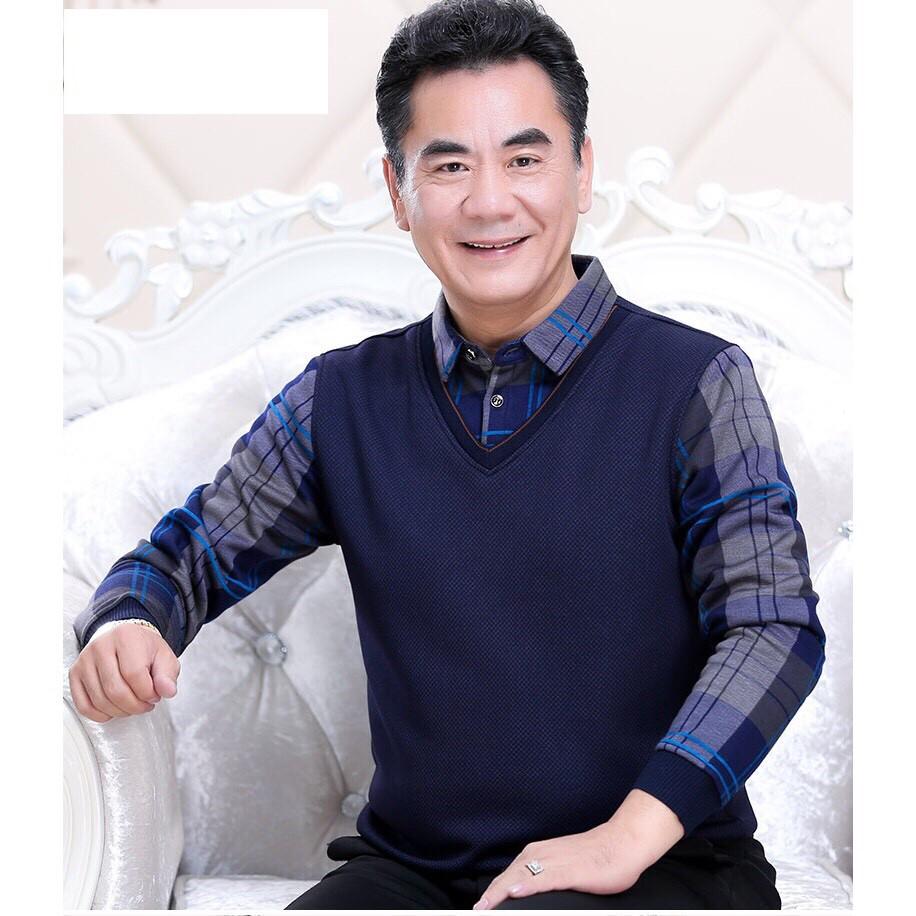 Áo Len Sơ Mi cho bố, cho ông ( ME166 )