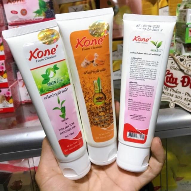 Sữa rữa mặt Trà Xanh và Nghệ, Kone Thái chính hãng, Giá tháng 10/2020