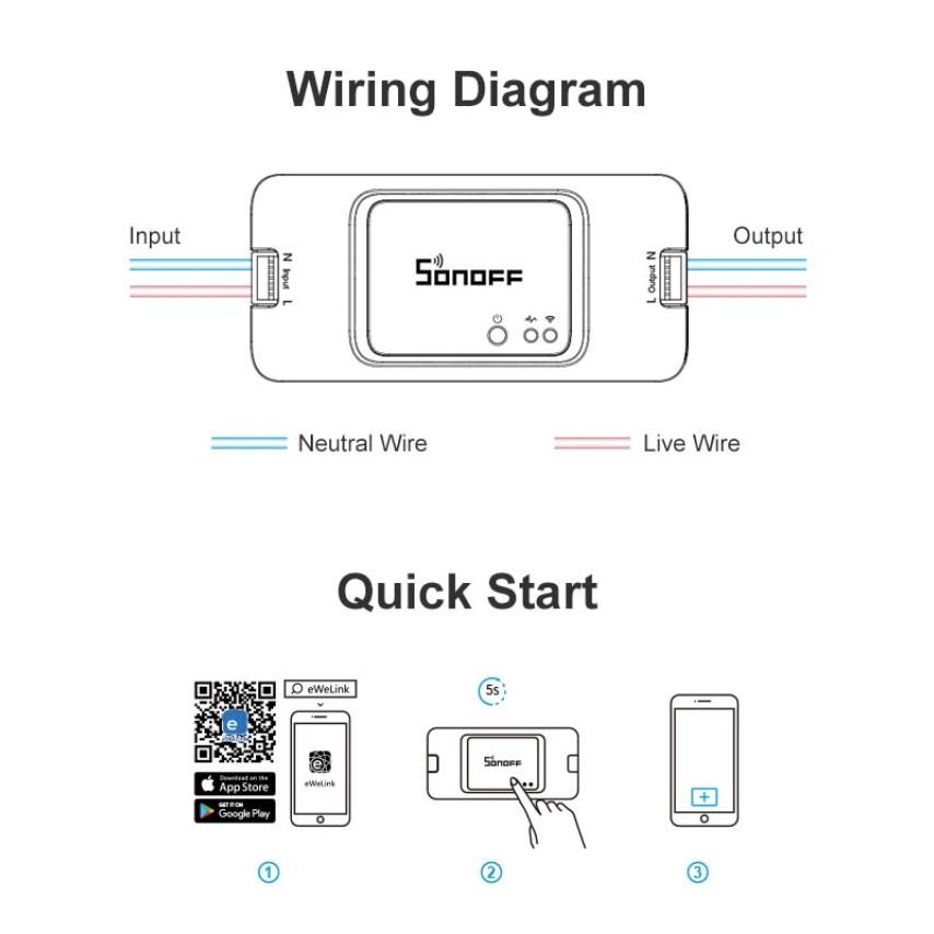 SONOFF BASIC R3 (QUỐC TẾ), công tắc WIFI, điều khiển từ xa thông minh R3, 2019