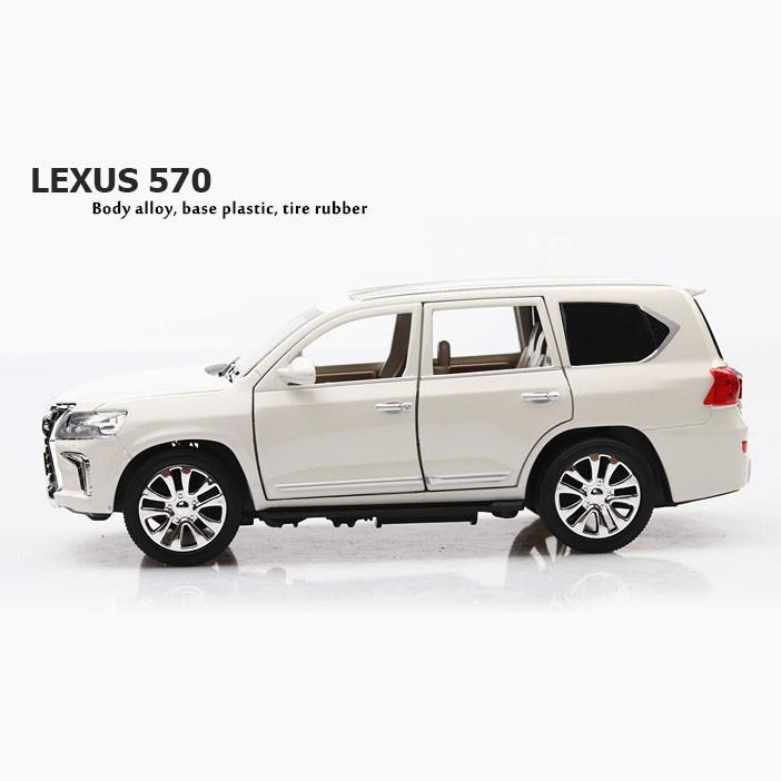 Mô hình tĩnh xe LEXUS 570 1:24 XLG (Màu Trắng)