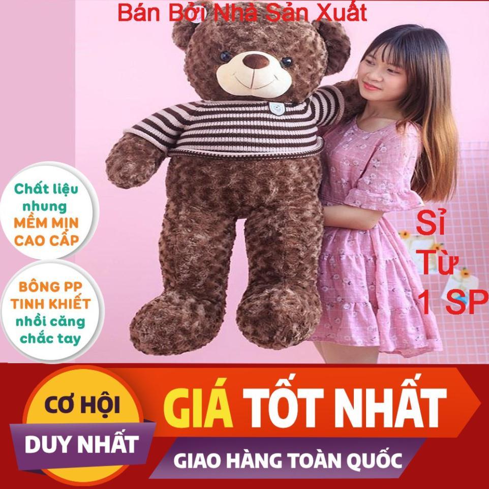 [Siêu Rẻ]Gấu Bông Teddy, Gối Ôm Teddy Hình Thú Làm Quà Tặng Siêu Đáng Yêu 95cm