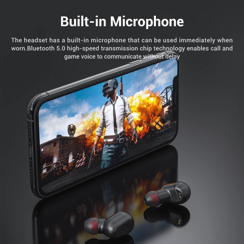 TOPK Tai nghe nhét trong không dây TWS mini kết nối Bluetooth