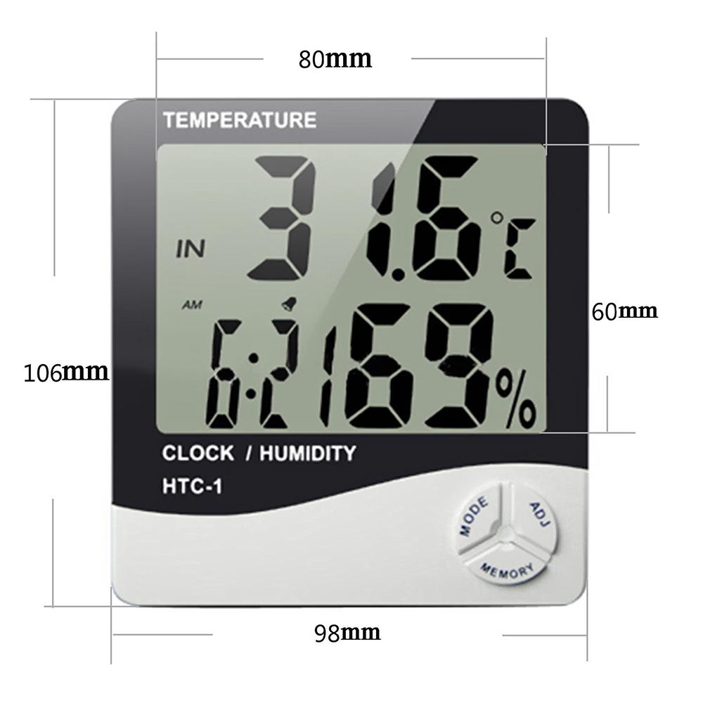 Indoor Outdoor Thermometer Digital LCD Hygrometer Temperature Humidity Meter SS