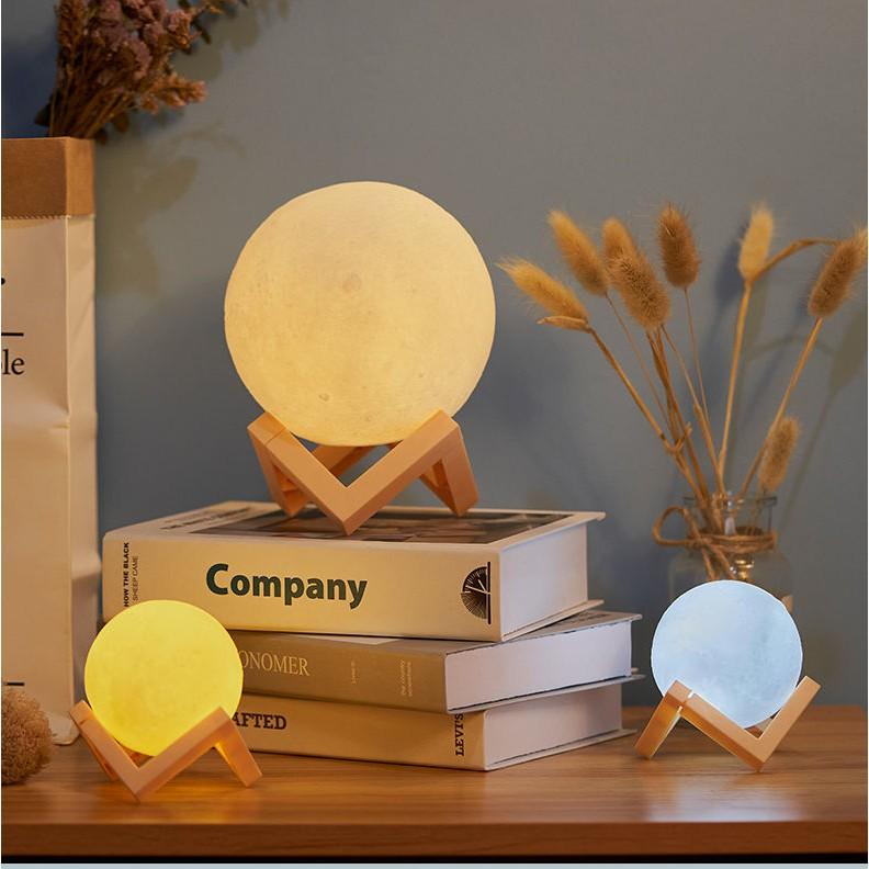 Đèn ngủ hình mặt trăng 3D dùng trang trí nhà