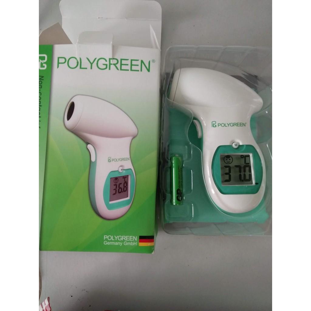 Nhiệt kế hồng ngoại đo trán Polygreen KI-8280 + tặng túi đựng máy