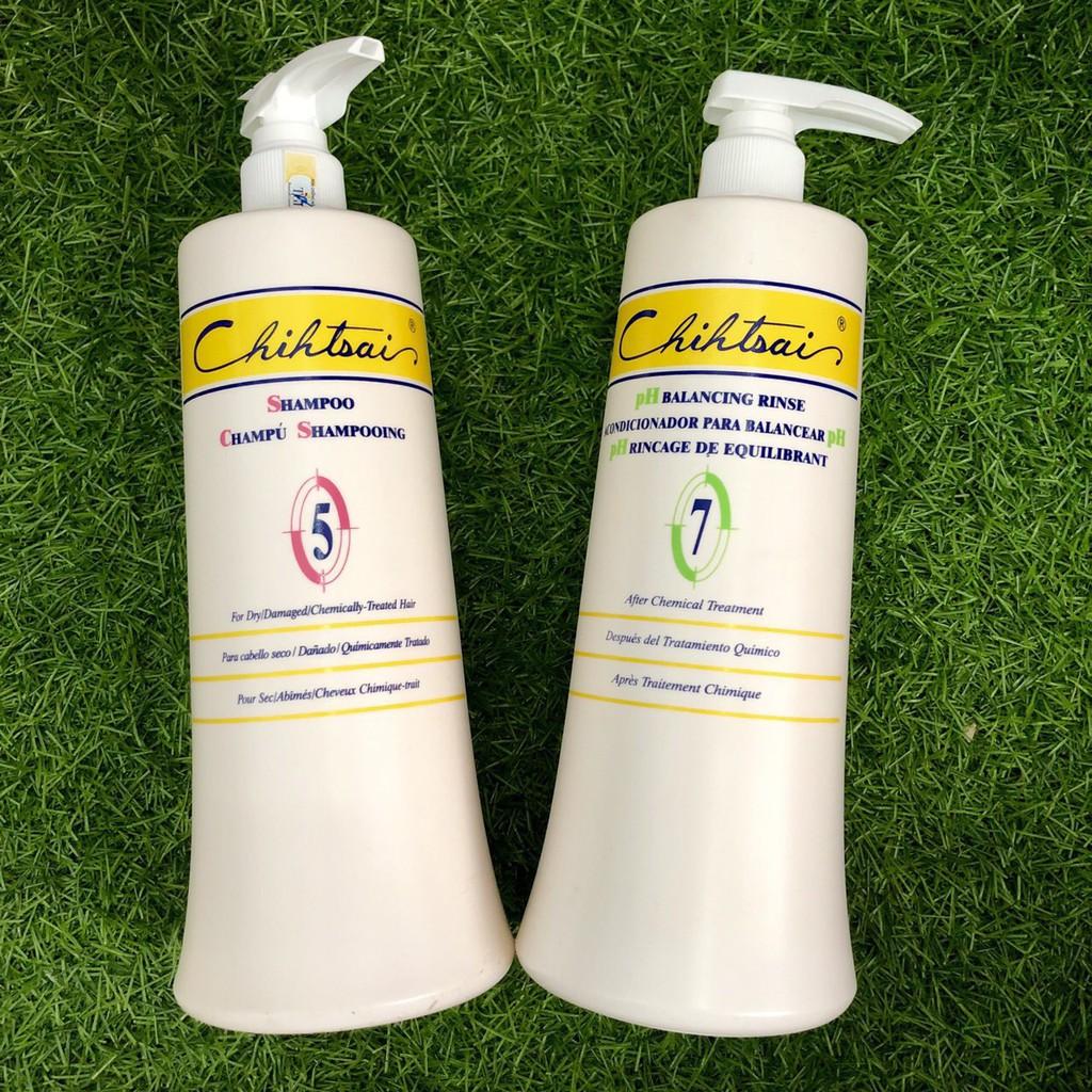Dầu gội/ xả phục hồi tóc hư tổn Chihtsai 5-7 - 1000mlx2