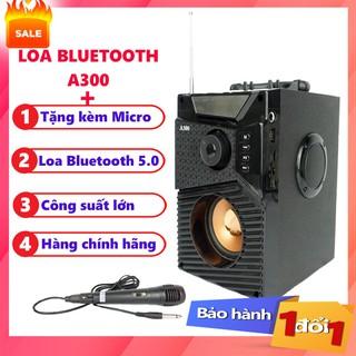 Loa Công Suất Lớn, Loa A300 Hozito Cao Cấp Version 2020 + TẶNG MIC HÁT, Loa Hat Karaoke Bluetooth Cầm Tay -Kèm Bóp xốp