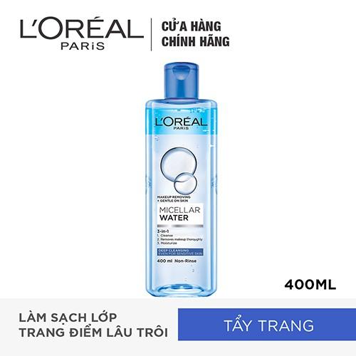 Hình ảnh Nước tẩy trang L'Oreal Paris 3-in-1 Micellar Water 400ml-0