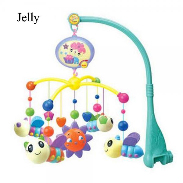 Cartoon Bees Baby Bed Rotatable Musical Box Music Mobile Hanging Bell Toy J498