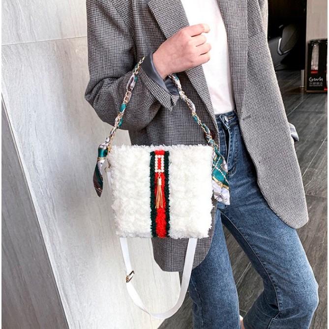 Set nguyên liệu - Túi len tự đan handmade tự đan