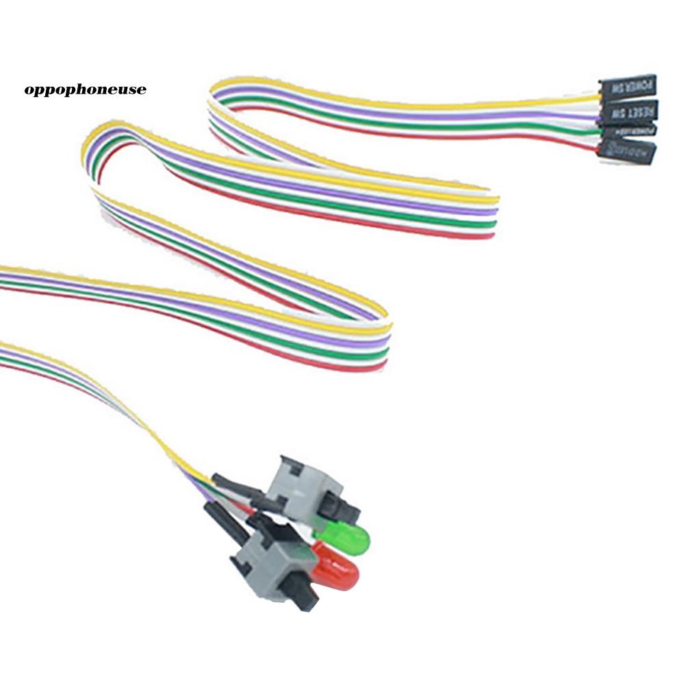 【OPHE】Cáp 2 nút công tắc tích hợp đèn LED dài 50cm cho bo mạch chủ