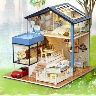 Mô hình nhà gỗ búp bê dollhouse DIY – A061 Seattle