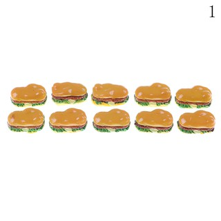 ☆VN 2Pcs Hamburgers Miniature Food Models Dollhouse Accessories