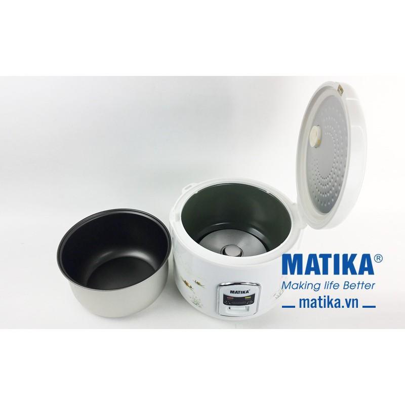 NỒI CƠM ĐIỆN NẮP GÀI MATIKA MTK- RC1812 1.8 LÍT