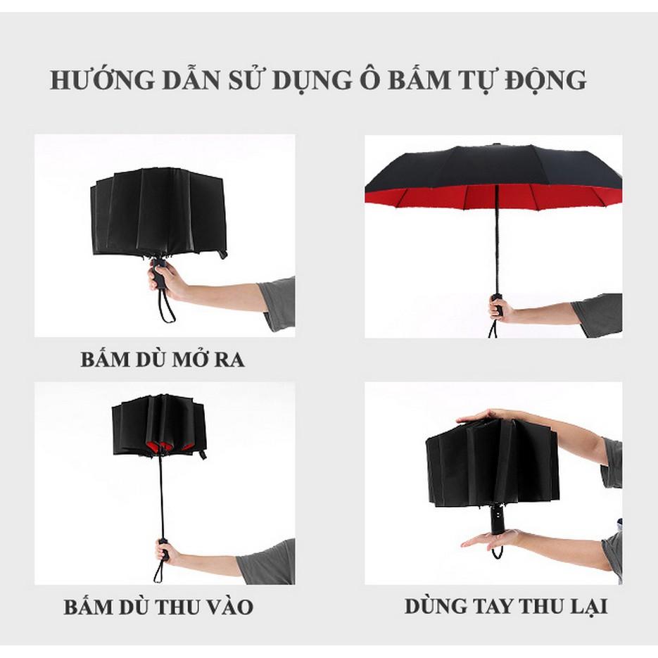 Ô dù tự động 2 chiều 2 lớp chống UV Hưng Việt