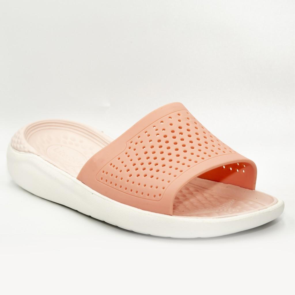 Dép nam , Nữ  thời trang màu trắng quai cam LTRLE05 - tiện lợi, bền đẹp, không sụt lún,siêu nhẹ và siêu chắc chân